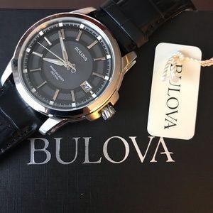 Bulova Precisionist mens Leather Watch BRAND NEW